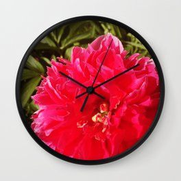 Deep Pink Dahlia Wall Clock