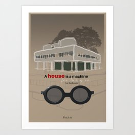 A machine for living in. Art Print