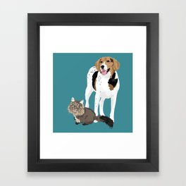 Piper and Jeb Framed Art Print