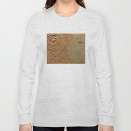 Vintage Relief Map of Boston MA (1874) Long Sleeve T-shirt