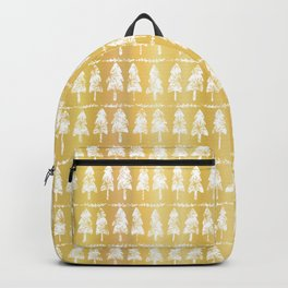 Luxury Gold Foil Festive Xmas Fir Tree Candle Pattern Backpack