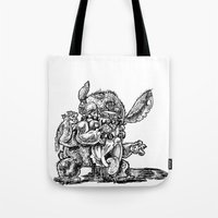lilo and stitch Tote Bags featuring Zombie Stitch | Disney's Lilo and Stitch by Aaron Bowersock