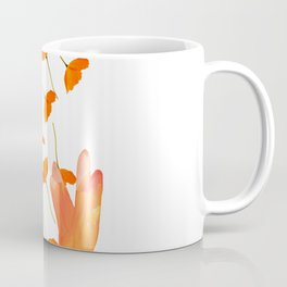 Wonderful Poppy Flowers Orange Coral Color White Background #decor #sociey6 #buyart Coffee Mug