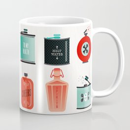 Flask Collection – Red & Turquoise Palette Coffee Mug