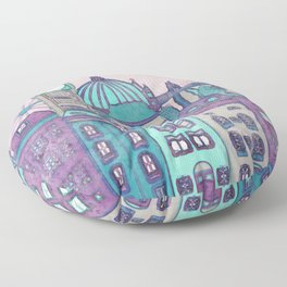 London Skyline Floor Pillow