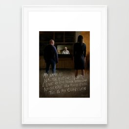 """""""This is my confession."""" Framed Art Print"""