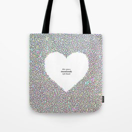 This Space Intentionally Left Blank Tote Bag