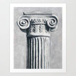 Ionic Column Art Print