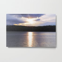 Sunset at Concord's Walden Pond 10 Metal Print