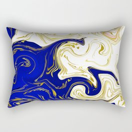 blue ,gold,rose,black,golden fractal, vibrations, circles modern pattern, Rectangular Pillow