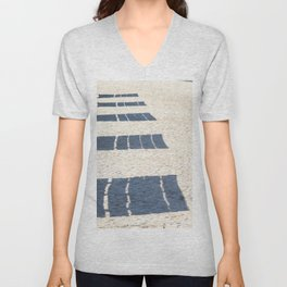 Shadows of empty benches Unisex V-Neck