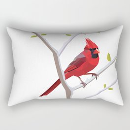 Geometric Cardinal Rectangular Pillow