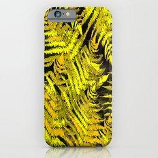 Ferns on a black background - #society6 #buyart iPhone 6s Slim Case