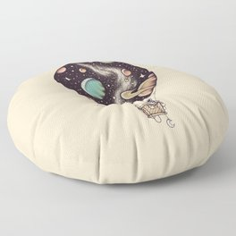 Interstellar Journey Floor Pillow