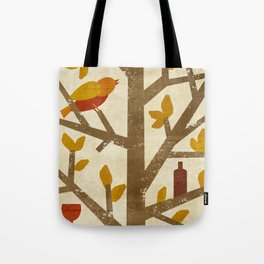 birds and wine Tote Bag