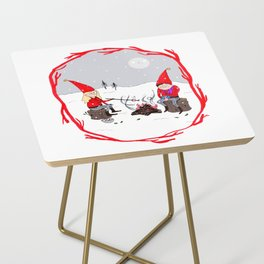 Snow and Stories Side Table