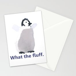 Cute Penguin Says: What the Fluff Stationery Cards