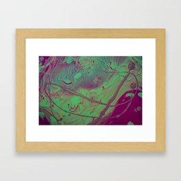 Acid Spill Framed Art Print