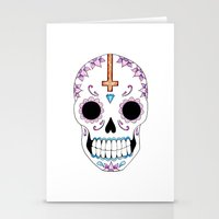 atheist Stationery Cards featuring ATHEIST by Alice Suttle
