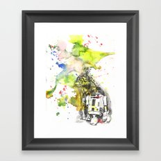 C3PO and R2D2 from Star Wars Framed Art Print