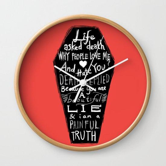 Life asked death... Wall Clock