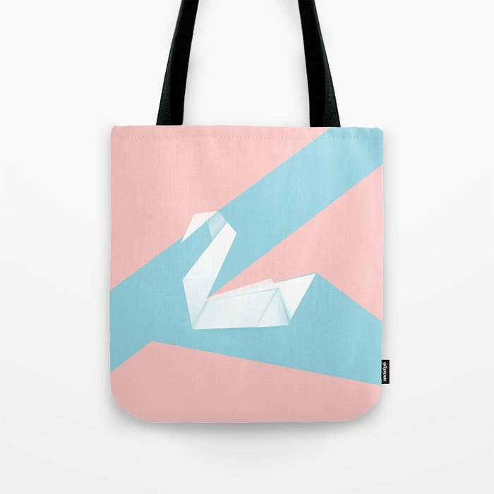 Simple Origami Swan Tote Bag