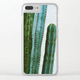 California Cactus Garden II Clear iPhone Case
