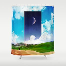 Finding The Night Shower Curtain