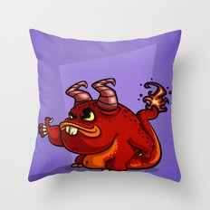 PICKUP MONSTER Throw Pillow