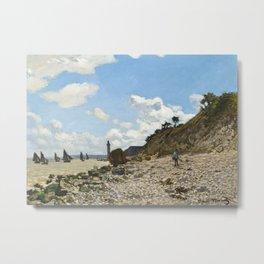 The Beach at Honfleur by Claude Monet, 1866 Metal Print