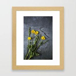 Hello Buttercup - Yellow Flower  Framed Art Print