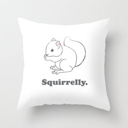 Squirrelly. Throw Pillow