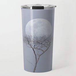 Moonrise Over An Albizia Forest Travel Mug