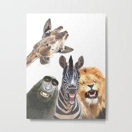 Jungle Animal Friends Metal Print