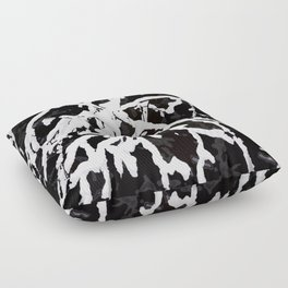 Snowy Branches On Black Background #decor #society6 Floor Pillow