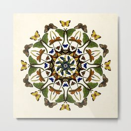 Kaleidoscope with Wings Metal Print