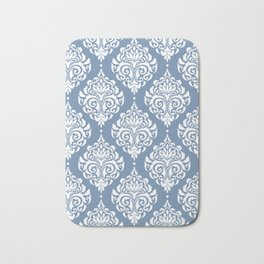 Sky Blue Damask Bath Mat