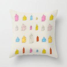 Transparent Houses Throw Pillow
