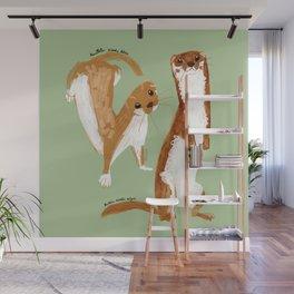 Funny Weasel ( Mustela nivalis ) Wall Mural