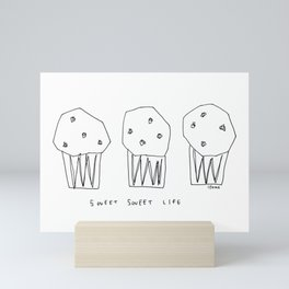Sweet Sweet Life - cupcake illustration Mini Art Print