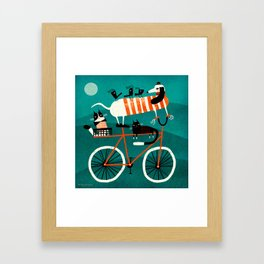 BIKE JOURNEY Framed Art Print