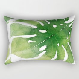 Monstera watercolor I Rectangular Pillow