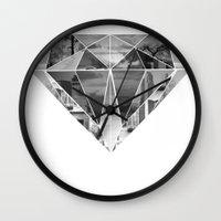 diamond Wall Clocks featuring Diamond by fyyff