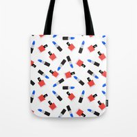 girl power Tote Bags featuring Girl Power by @VerbNYC