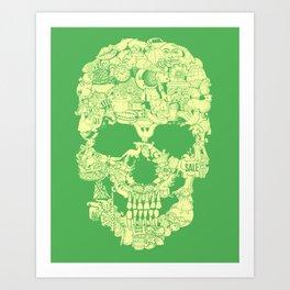 Clip Art Skull Art Print