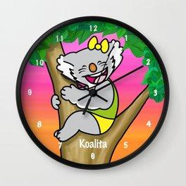koalita on the tree Wall Clock