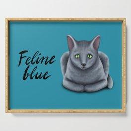 Feline blue Serving Tray