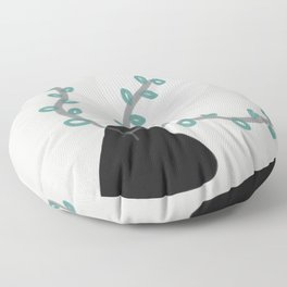 Midnight mini plant Floor Pillow