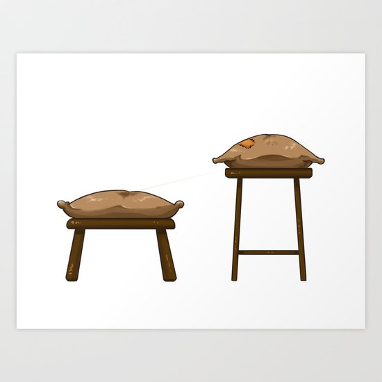 Chairs and Pillows Art Print