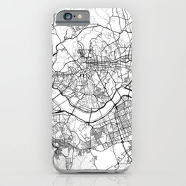 Seoul Map White iPhone Case